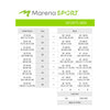 marena sport size chart for sports bras