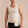 Marena Recovery POUCH 2 worn on UV/CP Drain bulb management compression vest,  front view on male model
