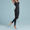 Marena Shape style VA-02 regular inseam compression bodysuit, side pose view in black