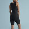 Marena Shape style VA-03 Petite VerAmor Thigh length compression bodysuit, back view in black