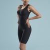Marena Shape style VA-03 Petite VerAmor Thigh length compression bodysuit, front pose view in black