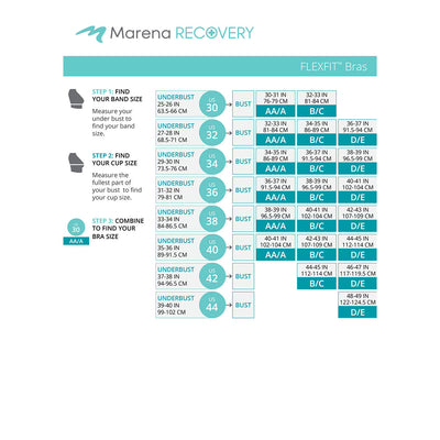 Marena Recovery FlexFit BiCup B01G Size Chart