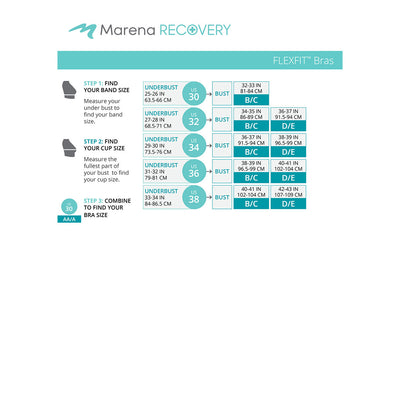 Marena Recovery FlexFit BiCup B09Z  Size Chart