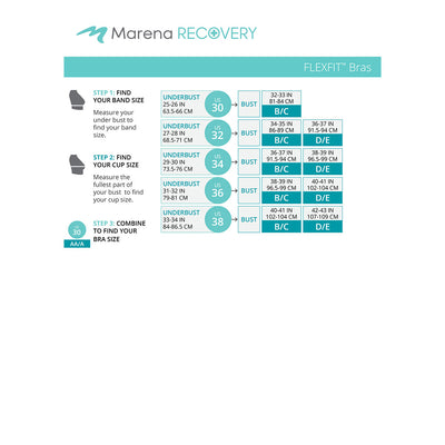 Marena Recovery FlexFit BiCup B11 Size Chart