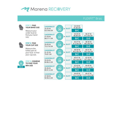 Marena Recovery FlexFit™ B15 BiCup Size Chart