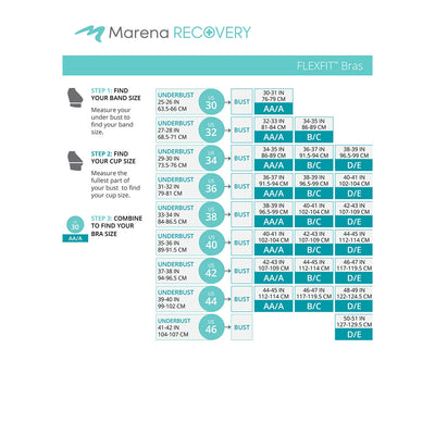Marena Recovery FlexFit BiCup Size Chart