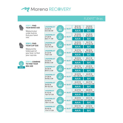 Marena Recovery FlexFit BiCup B2 Size Chart
