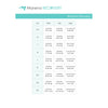 Marena Women's Recovery size chart, waist, hips, thigh points of measure