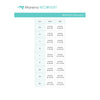 Marena Women's Recovery size chart, waist hips point of measure