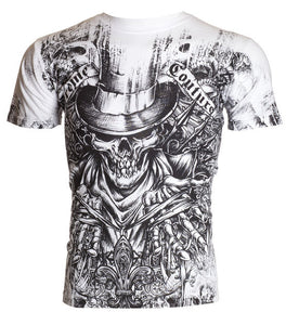 Top Hat Skull Affliction Tee