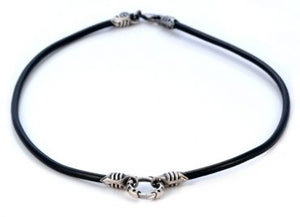 Center Loop Leather Necklace