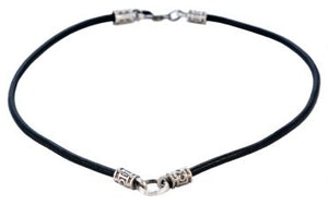 Classic Center Loop Leather Necklace