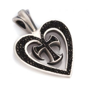 Crossed Heart Pendant