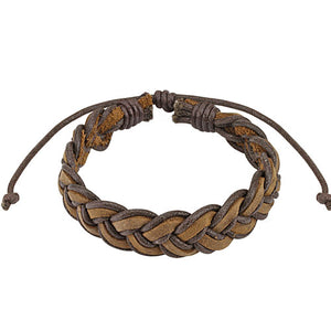 Brown Merimaid Tie Leather Bracelet