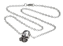 Mini Rose Skull Necklace