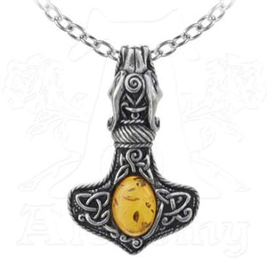 Amber Thor's Hammer Necklace