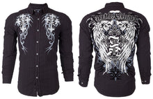 Winged Skull Affliction Mens Button Down