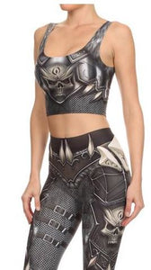 Armor Skull Crop Top - SALE