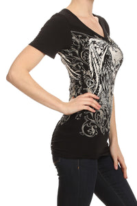Rebel Heart Skull Top- SALE