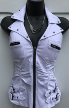 Buckle Up Bling Angel Zippered Vest