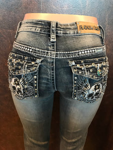 Skull Bling Boot Cut Jean