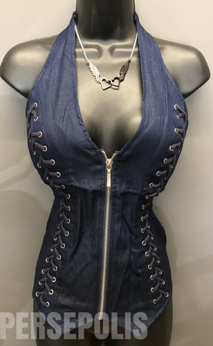 Dark Denim Dream Zippered Vest