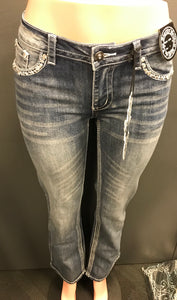 Skull n Wings Boot Cut Jean- SALE