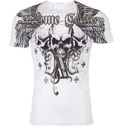 Triple Skull Affliction Tee