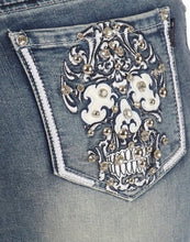 Skull Candy Bling Boot Cut Jean