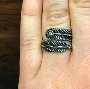 Feather Faith Ring