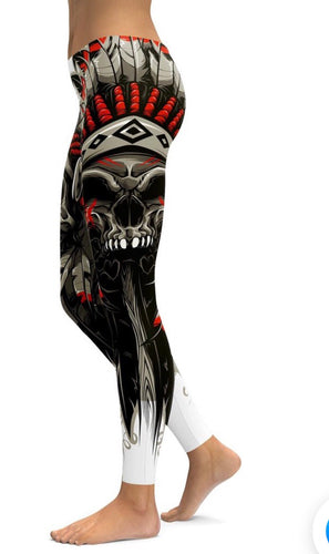Native Skull Legging