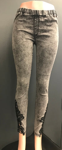 Stonewash Heartbreaker Jeggings- SALE