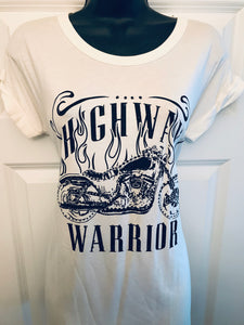 Highway Warrior Tee in Creme- SALE