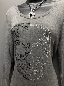 Little Bling Skull Sweater