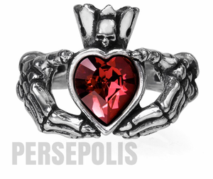 Skull Claddagh Ring