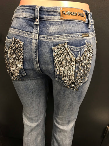 Bling Angel Boot Cut Jean