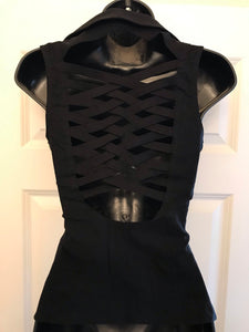 Little Black Zippered Vest