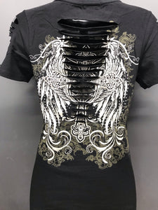 Wings of Faith Ripped Tee