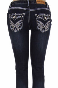 Butterfly Bling Boot Cut Jean