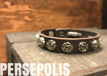 Rose Goddess Leather Bracelet