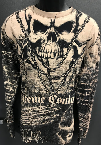 Killer Skull Mens Long Sleeve Tee