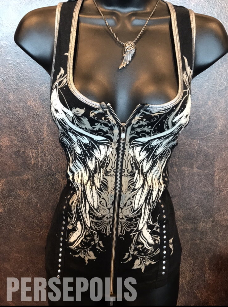 Wings of Love Zipper Vest