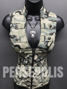 Some Like it Hot Camo Zippered Vest