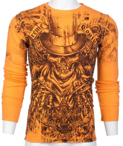 Top Hat Skull Affliction Mens Thermal