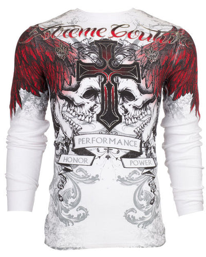 Red Skull Affliction Mens Thermal