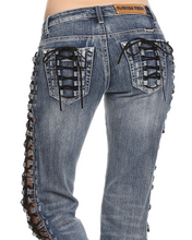 Tie Me Up Bling Denim
