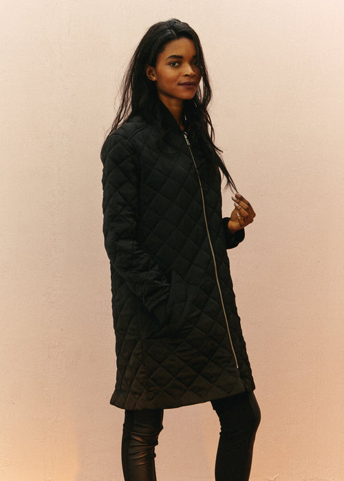 Bristol Coat - Quilted black