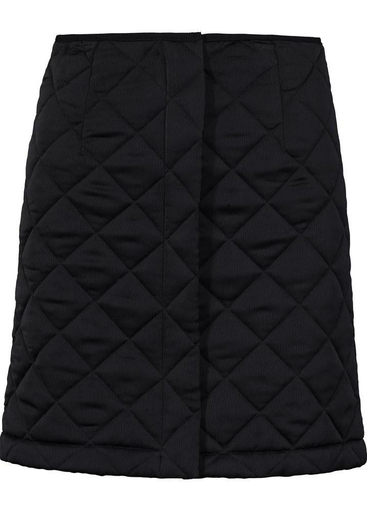 Venice Skirt - Quilted Black
