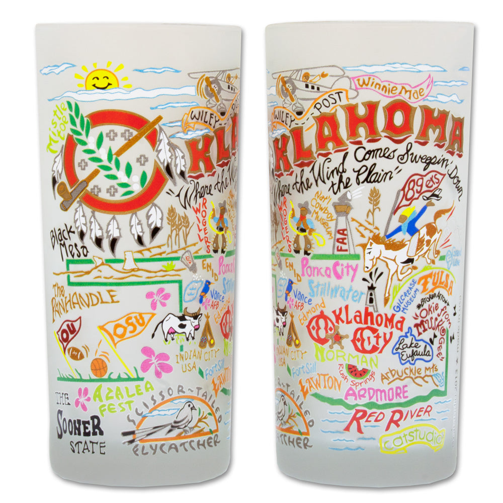 Oklahoma Drinking Glass by Catstudio