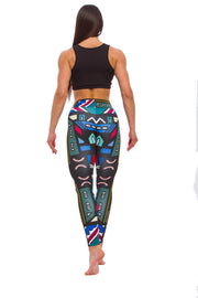 Ladies leggings The Touch of Africa in Black - LegCode